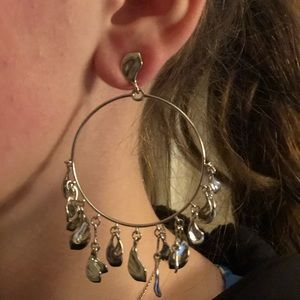 Kendra Scott Natasha silver Hoop Earrings
